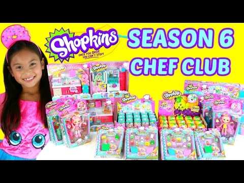 SHOPKINS SEASON 6 OPENING HUGE HAUL CHEF...