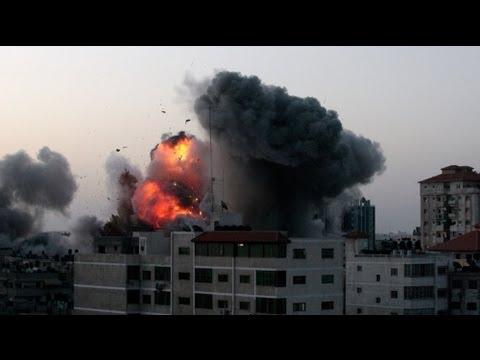 Israel Uses Warships To Strike At Gaza