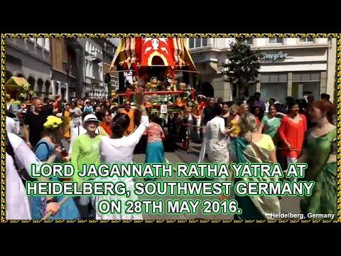 RATHA YATRA 2016 - HEIDELBERG, SOUTHWEST GERMANY.