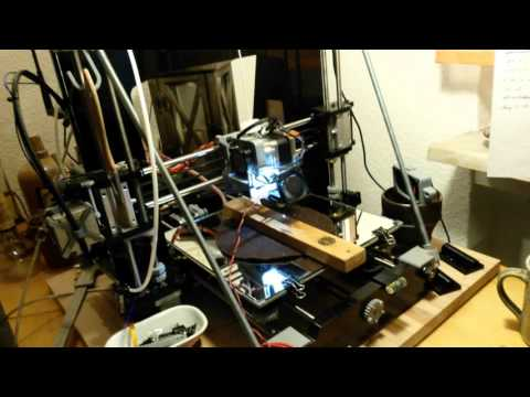 DIY Laser engraving with DVD laser diode and 3D printer