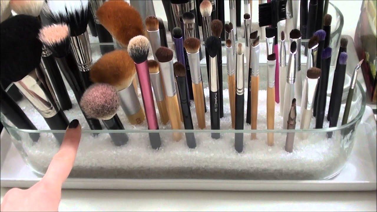mein Schminktisch | Make Up Aufbewahrung - YouTube