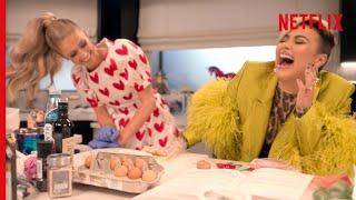 Demi Lovato and Paris Hilton Absolutely DESTROY a Ravioli Recipe  Cooking With Paris  Netflix