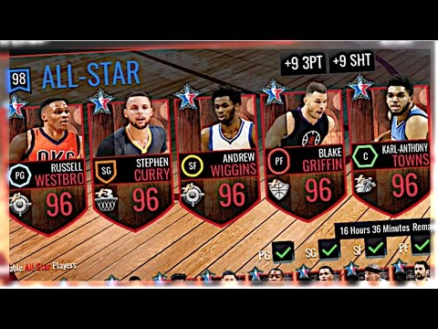 NBA  MOBILE  FULL ALL STAR MASTERS LINEUP! 98 OVERALL TEAM GAMEPLAY! BEST LINEUP IN NBA !