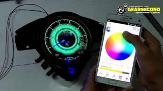 Modifikasi Speedometer Honda Beat Old/Karbu Jadi Warna Warni Pakai Android
