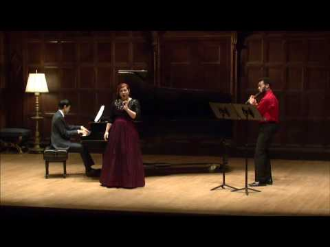 Delibes - Le Rossignol for Voice, Flute, and Piano