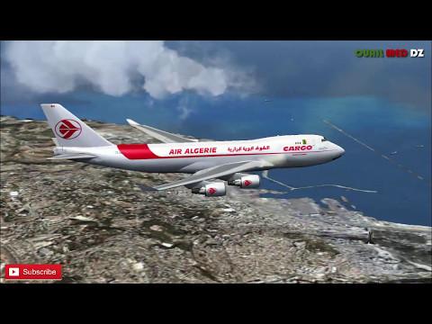 Boeing 747 cargo Air Algeria from Tiaret DAOB to Algiers DAAG FSX