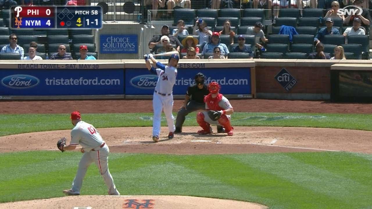Noah Syndergaard Belts First Major League Home Run Youtube