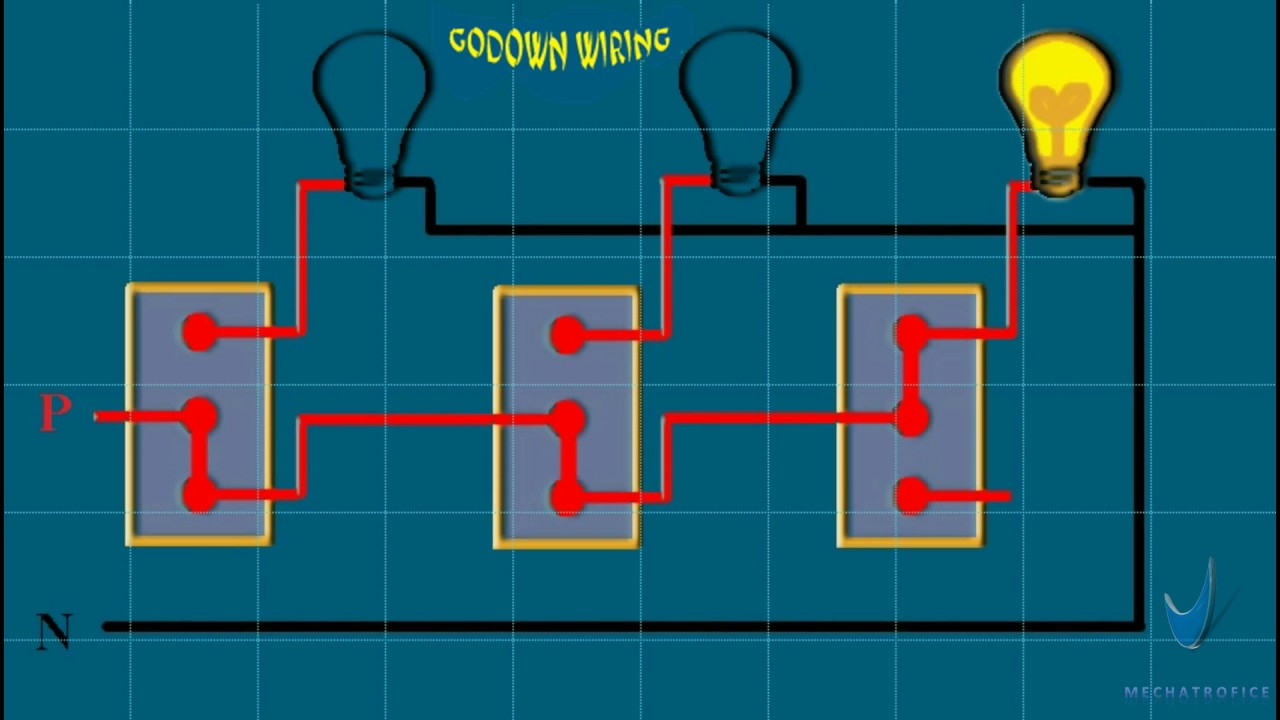 godown wiring experiment youtube rh youtube com Home Lighting Circuit Diagram House Wiring