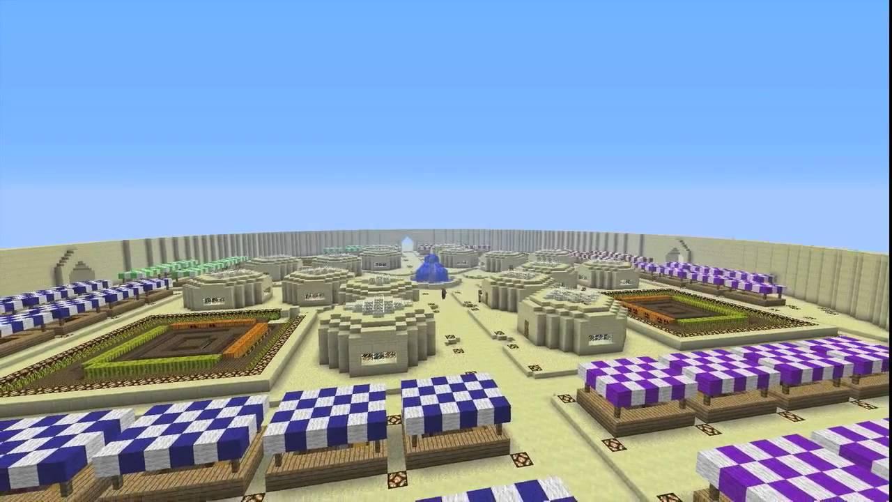 Minecraft Desert Market - YouTube