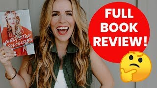 """FULL Book Review - """"Girl, Stop Apologizing"""" by Rachel Hollis - Releasing March 5, 2019 thumbnail"""