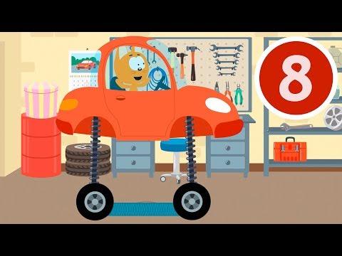 АВТОМОБИЛЬНАЯ ПРОБКА - Котёнок и волшебный гараж - Мультик про тачки и машинки