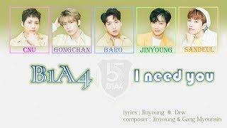 B1A4- I need you | [lyirc/romaji/eng/Korean/Malay/Indonesian]