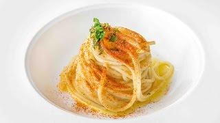 Spaghetti aglio, olio e peperoncino di Alessandro Negrini - Il Luogo di Aimo e Nadia