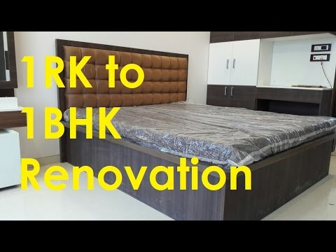 1 Rk To 1bhk Renovation By Civillane Com Youtube