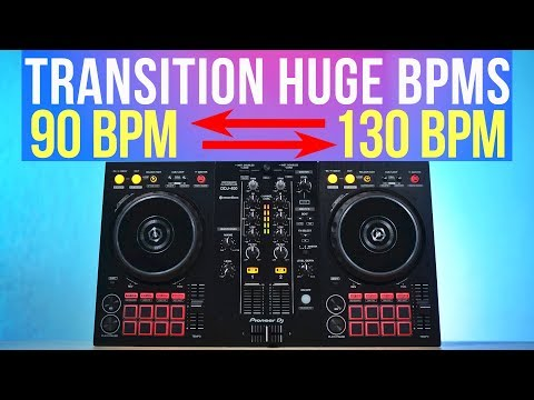 How to use SYNC to transition HUGE BPM Differences