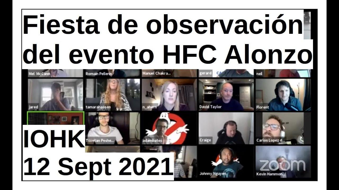Fiesta de observación del evento HFC Alonzo | IOHK 12 Sep 2021