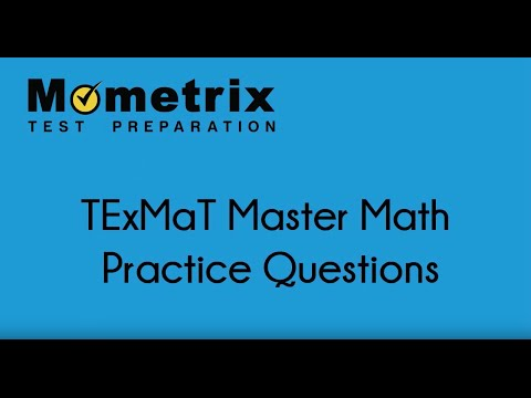 TExMaT Master Math Practice Questions - YouTube