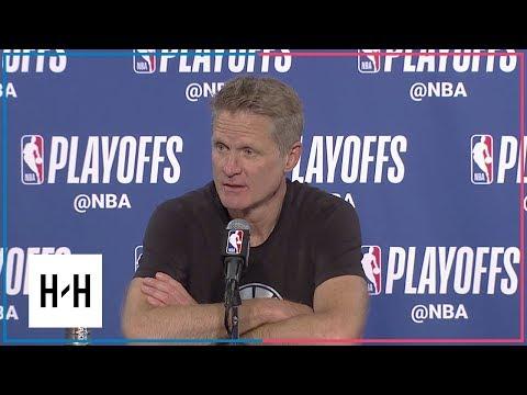 Steve Kerr Postgame Press Conference | Spurs vs Warriors - Game 2 | 2018 NBA Playoffs