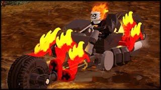 LEGO Marvel Superheroes 2 - Ghost Rider + His Motorcycle Free Roam Gameplay Showcase!