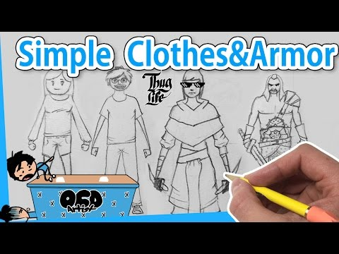 How to DRAW Clothes and Armor for Beginners [*4 Ways] EASY Step by Step Line By Line