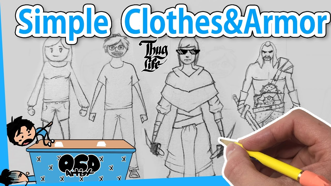 dad127736 How to DRAW Clothes and Armor for Beginners [*4 Ways] EASY Step by Step  Line By Line