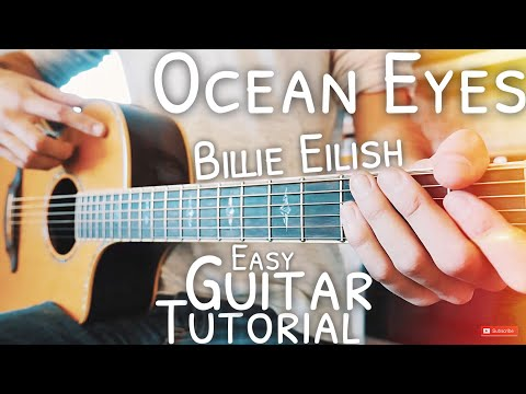 Ocean Eyes Billie Eilish Guitar Lesson for Beginners // Ocean Eyes Guitar // Guitar Tutorial #565