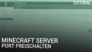 Minecraft Server Port freischalten | Fritzbox