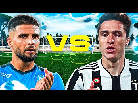 ⚽ INSIGNE vs CHIESA! CHI E' IL PIU FORTE? ELITES FOOTBALL CHALLENGE   NAPOLI - JUVENTUS 2021