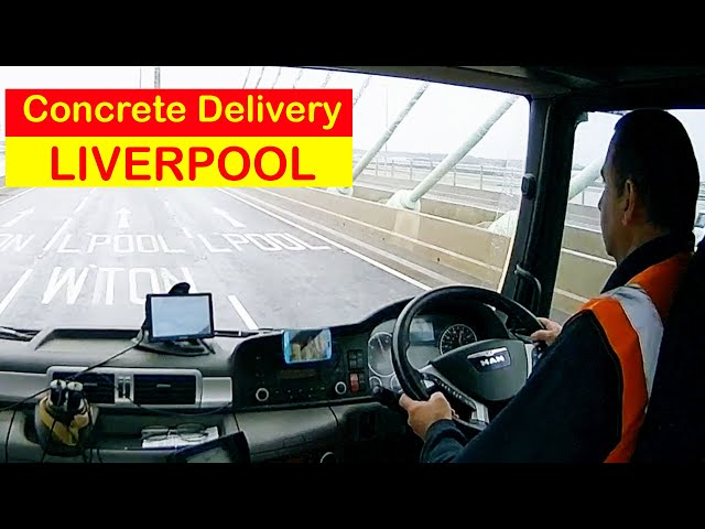 Concrete mixer delivery Liverpool City Centre British Trucking