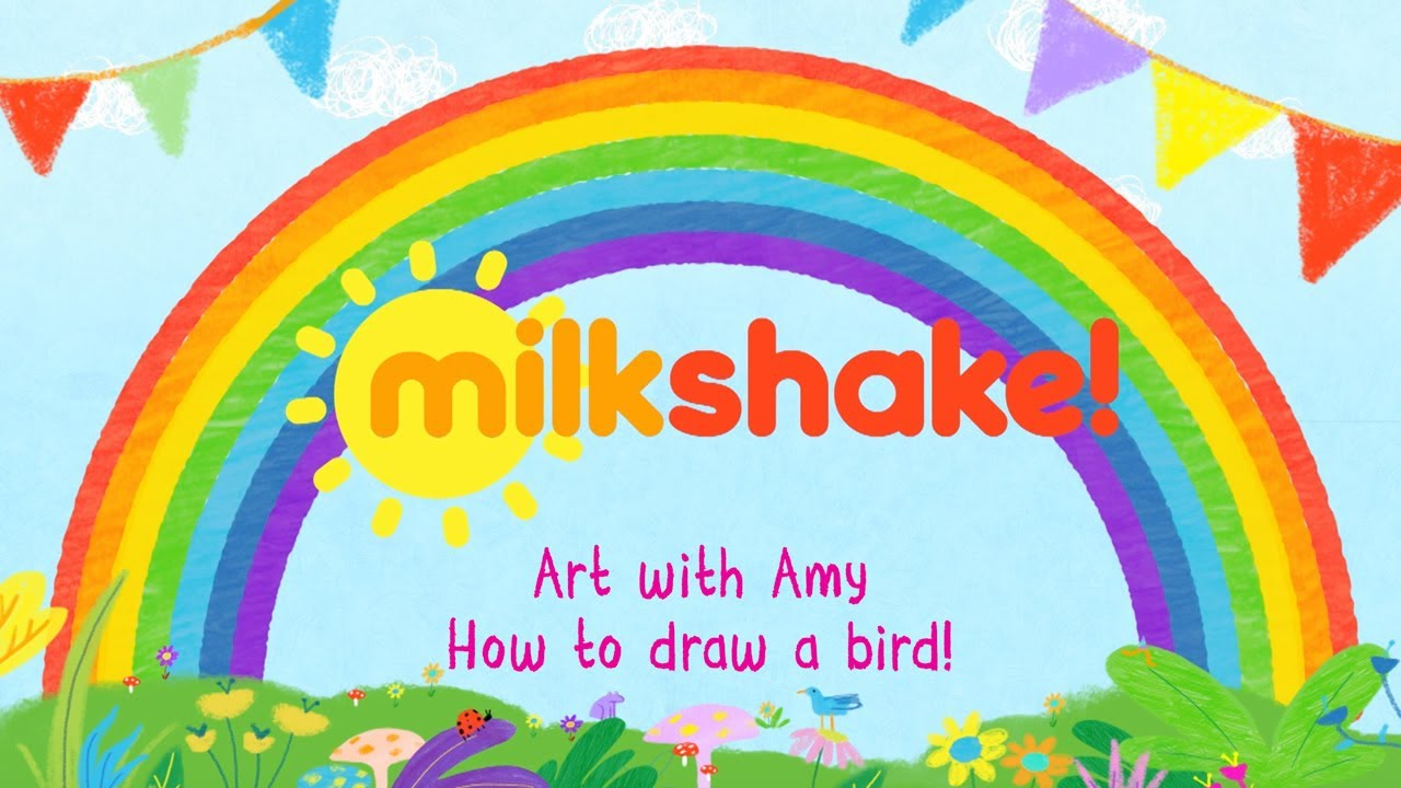 Milkshake! Stay at Home | Art with Amy | Bird hand drawing