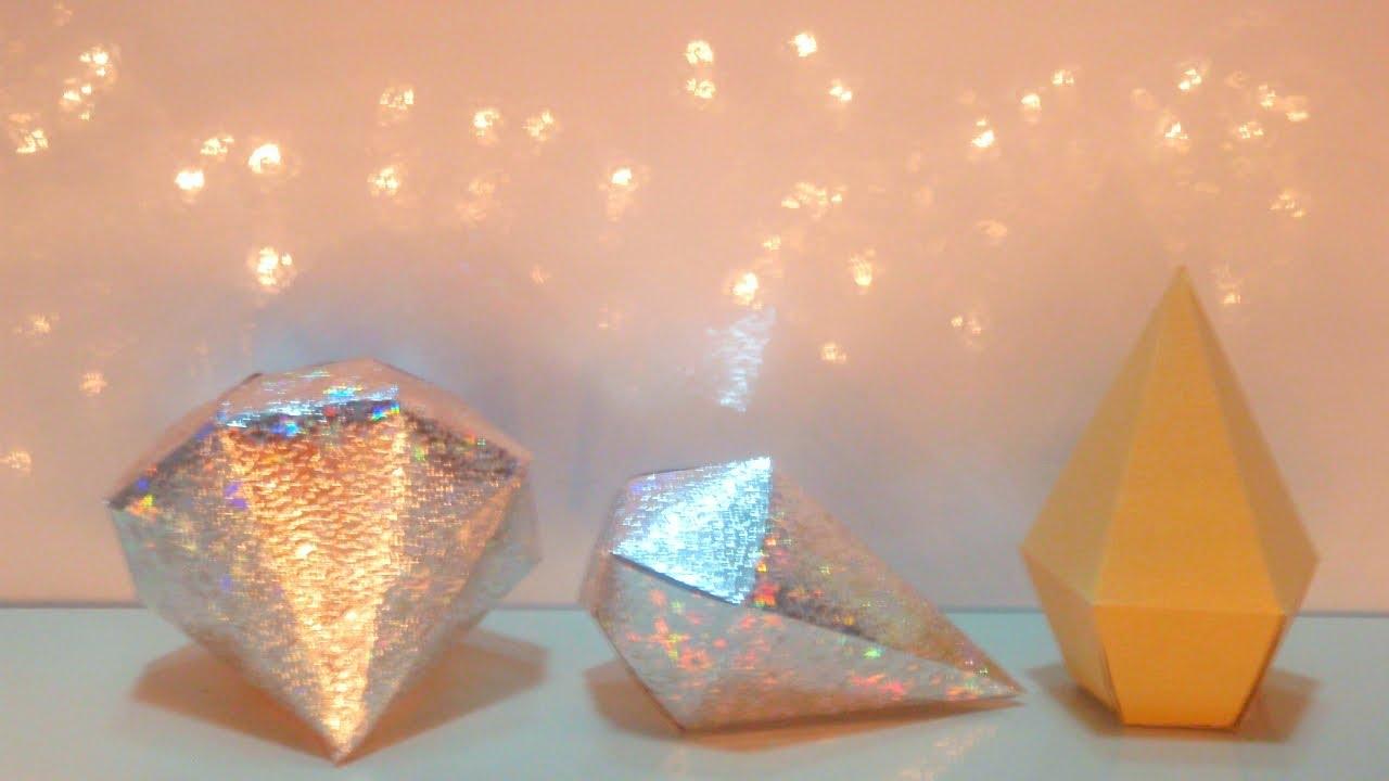 diy paper diamond  simple and easy paper diamond with diy