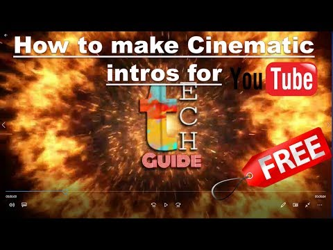 How  to make intro for youtube videos for free in mobile