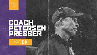 Football: Chris Petersen Postgame Press Conference (Oregon)