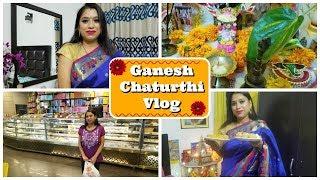 Vlog : Ganesh Chaturthi Celebration in 2018 | Trying Modak First Time | Indian Mom Studio