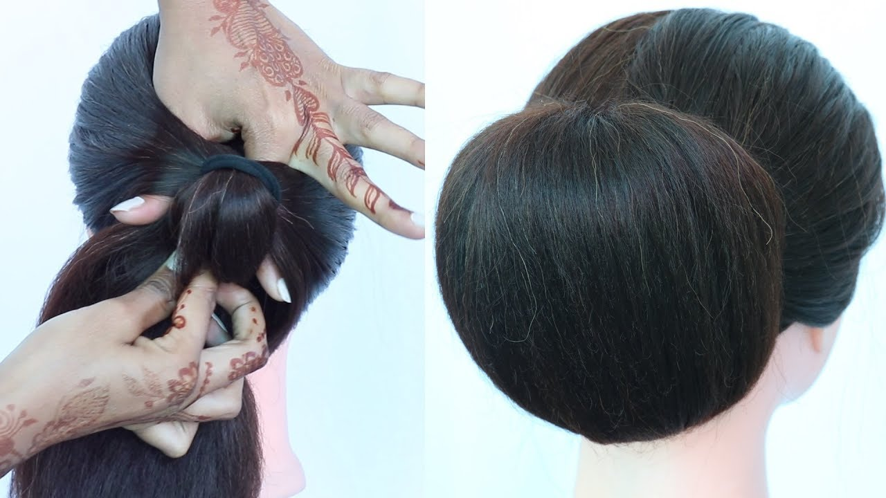 Easy Chignon Bun Hairstyles With Trick Updo Hairstyle Chinese Bun Summer Hairstyle