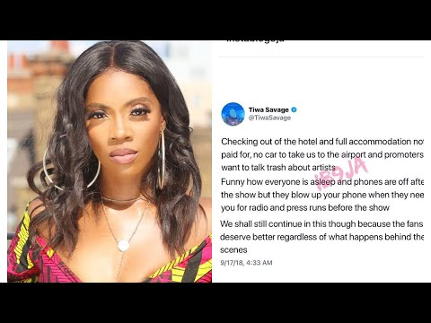 Tiwa Savage Attack's Kenya Promoter for poor treatment before Show