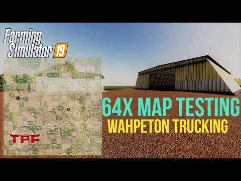 LIVE!! Farm Sim 19!! 64X MAP Wahpeton Full Section Corn Harvesting By North Dakota MAM