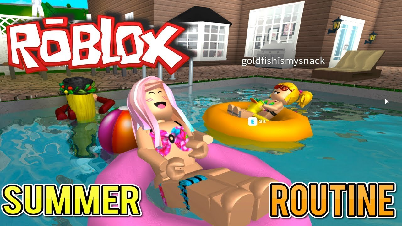 Bloxburg Summer Routine With Goldie Titi Roblox Family Vlog