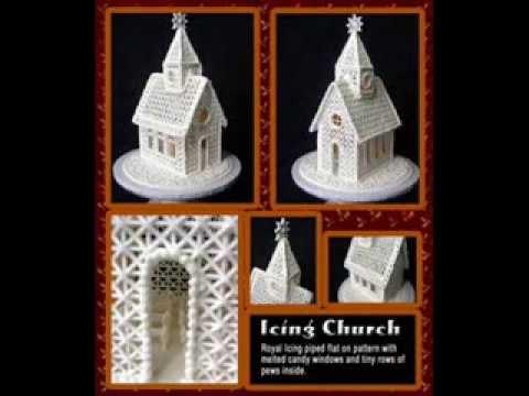 Beautiful Royal Icing Church Free Pattern YouTube