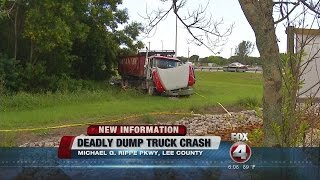 Deadly dump truck crash on Michael G. Rippe Parkway