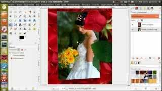 Как вставить фотографию в рамку(Кликай по ссылке http://www.gimpart.org/videokurs?utm_medium=foto-v-ramky2&utm_source=youtube , чтобы получить бесплатный видео-курс по графич..., 2013-11-22T18:09:37.000Z)