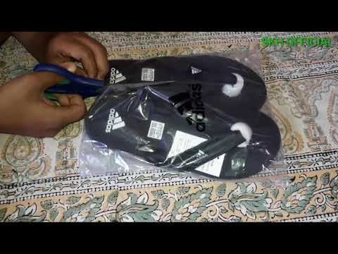 adidas-adi-rio-black-daily-slipper-from-snapdeal,-real-or-fake-,honest-review,unpacking-adidas-slipp