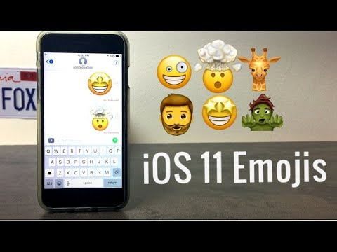 How to Get New iOS 11 Emojis - YouTube