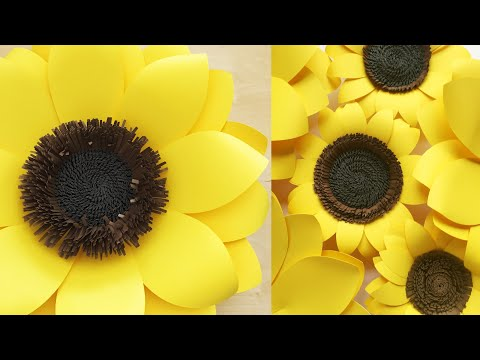 DIY Paper Sunflower Tutorial | How to make an EASY Paper Sunflower | DIY Paper Flowers |