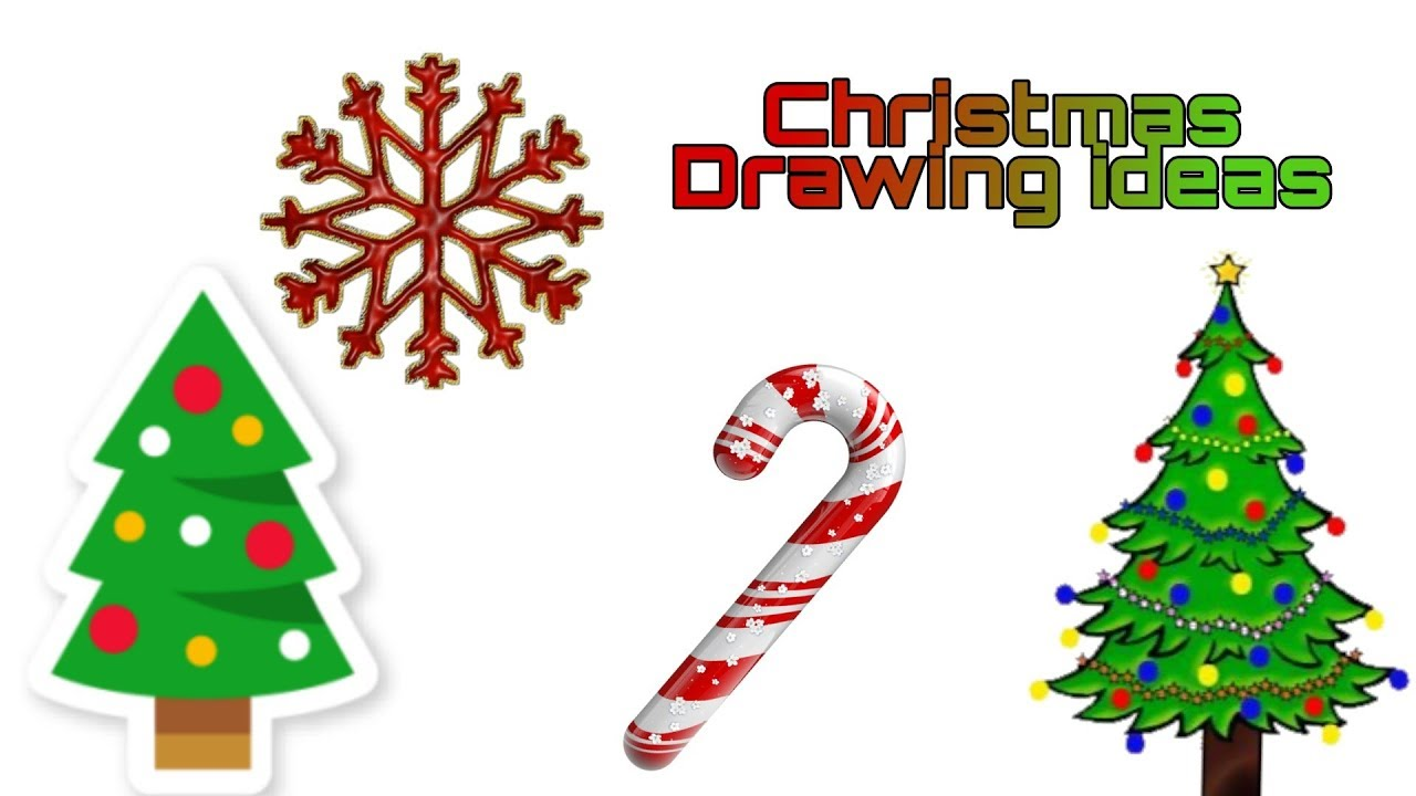 How to Draw a Christmas Tree and Star EASY and Cute    Drawing video - YouTube