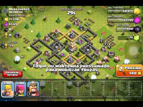 Clash of Clans - HOW TO GET LOOT FAST AND WITH LOW COST TROOPS!!