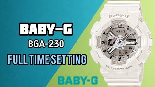 How To Set Time on G-Shock Baby-G BA-110 Digital Watch | Watch Repair Channel