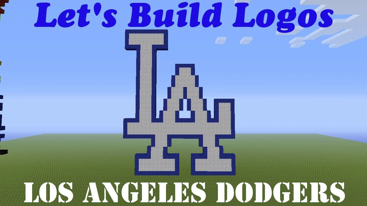 Minecraft Lets Build Logos Los Angeles Dodgers How To Tutorial