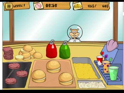 Губка Боб на работе/Spongebob Patty Dash (level 1)