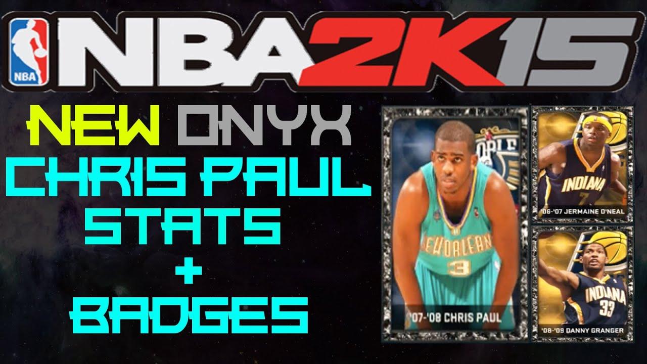 NBA2K15 MyTeam: NEW ONYX CHRIS PAUL!!! STATS + BADGES ...